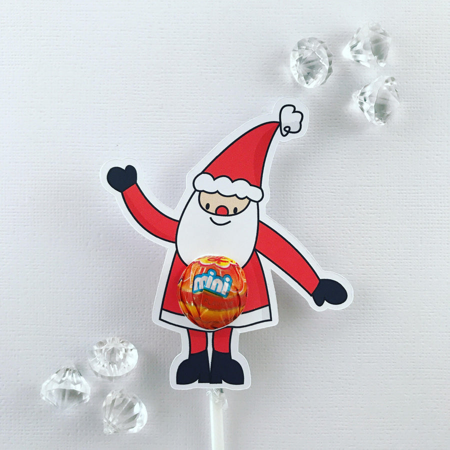 Santa MINI lollipop holders