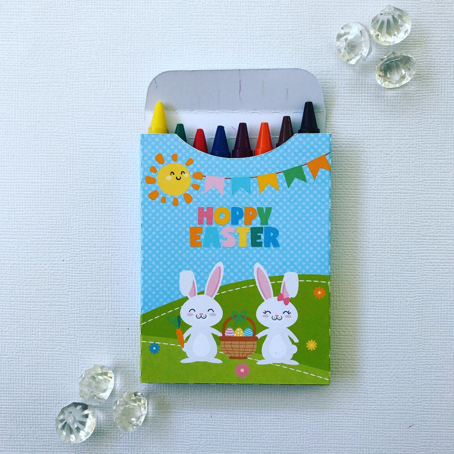 Hoppy Easter crayon boxes