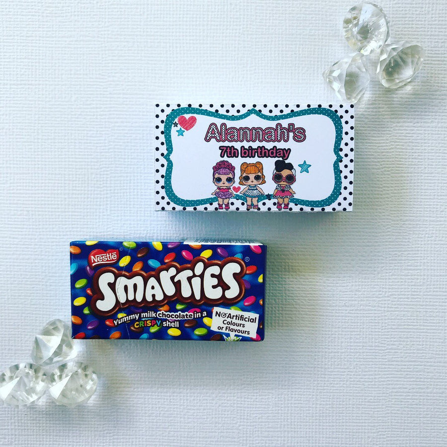 LOL dolls smarties boxes cover