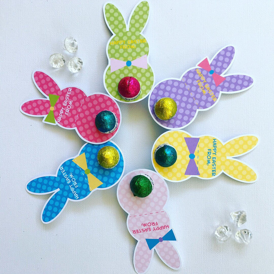 Personalised  Easter bunny egg holders pack of 30