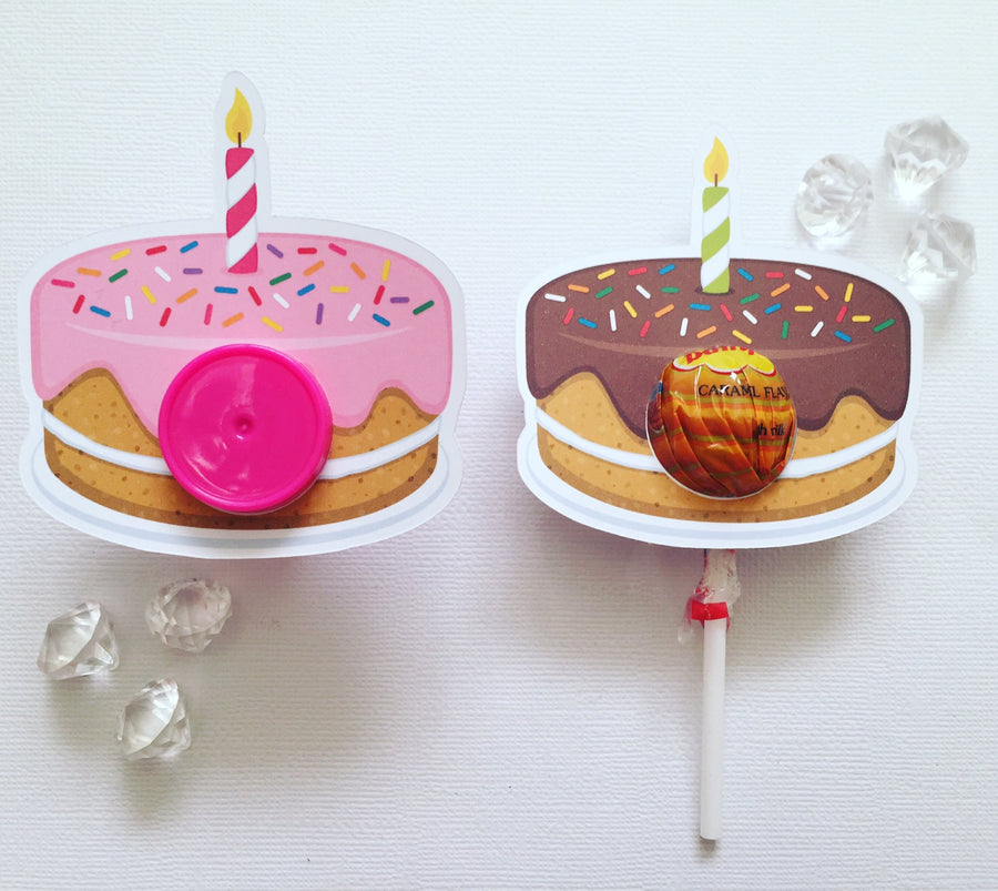 Birthday cake lollipop holder