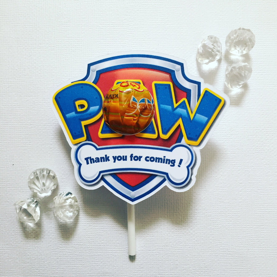 Paw patrol lollipop holders