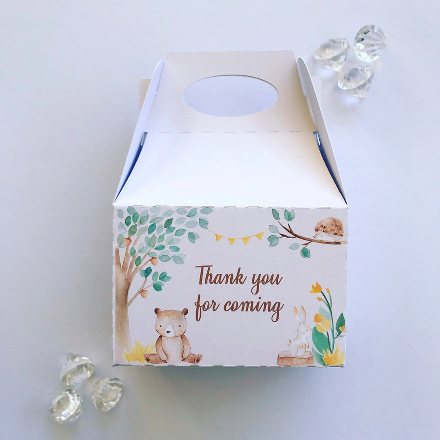 Woodland treat boxes