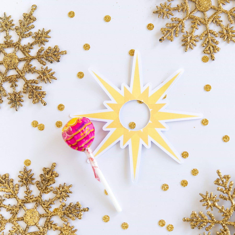 Peace on Earth lollipop holders