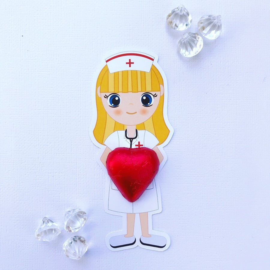 Nurse chocolate holder