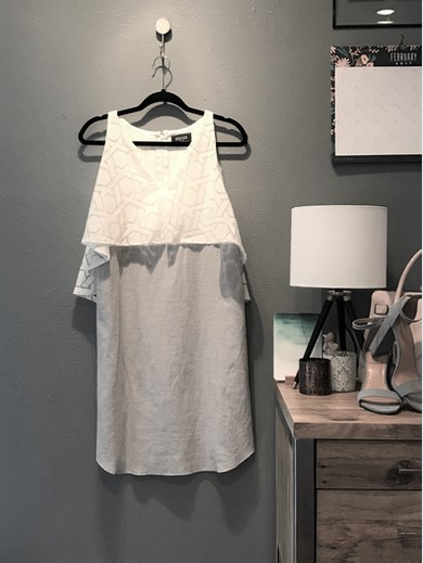 Milly Linen/Sheer Dress