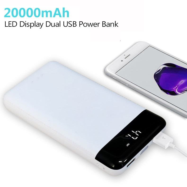 For Xiaomi Power Bank 20000mAh Portable Charger Dual USB