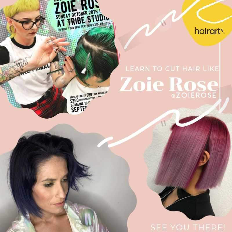 Learn to Cut Hair Like Extraordinaire Zoie Rose