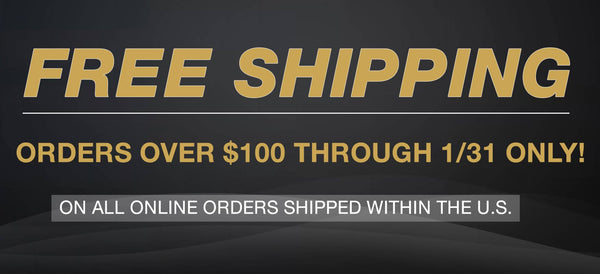 Free US Shipping until End of January: Orders over $100