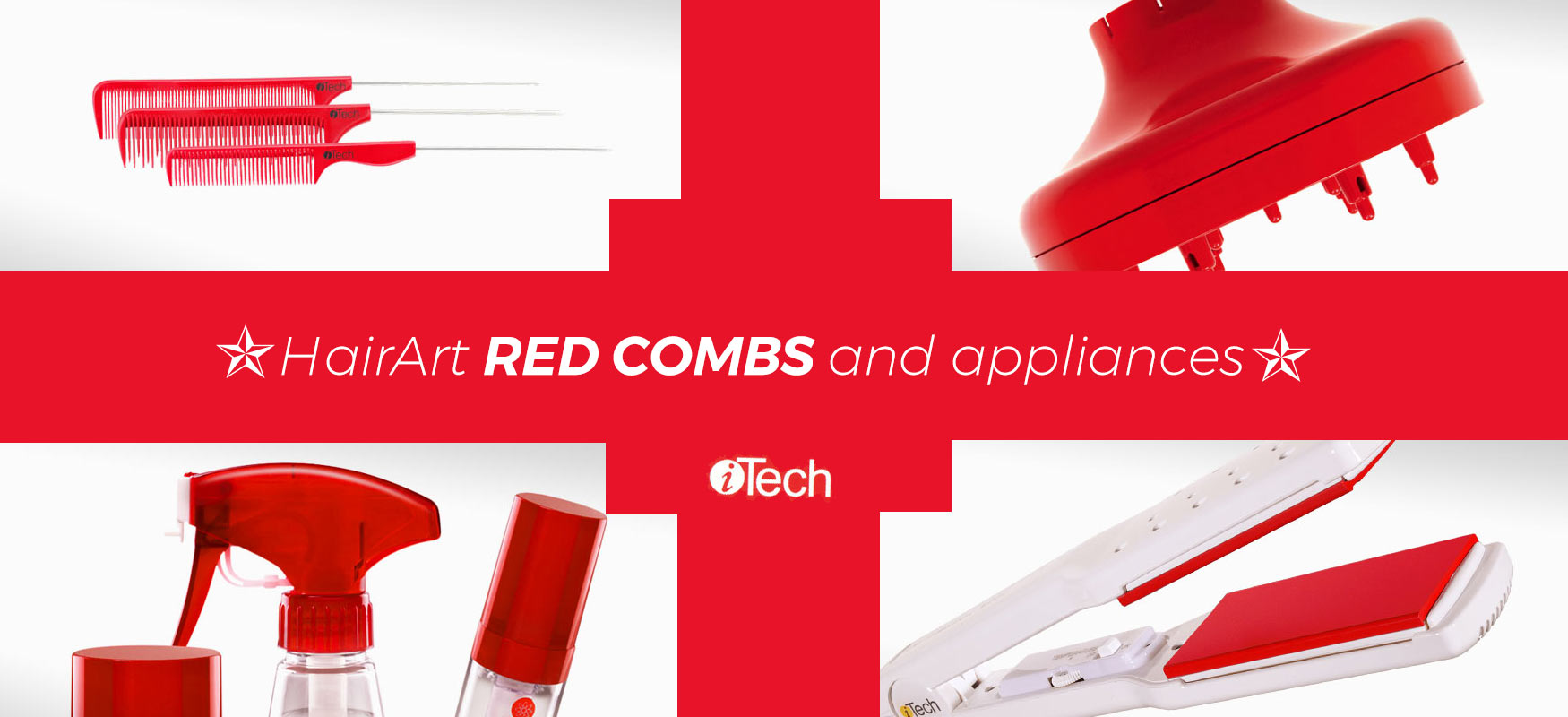 Red Combs and other iconic HairArt products