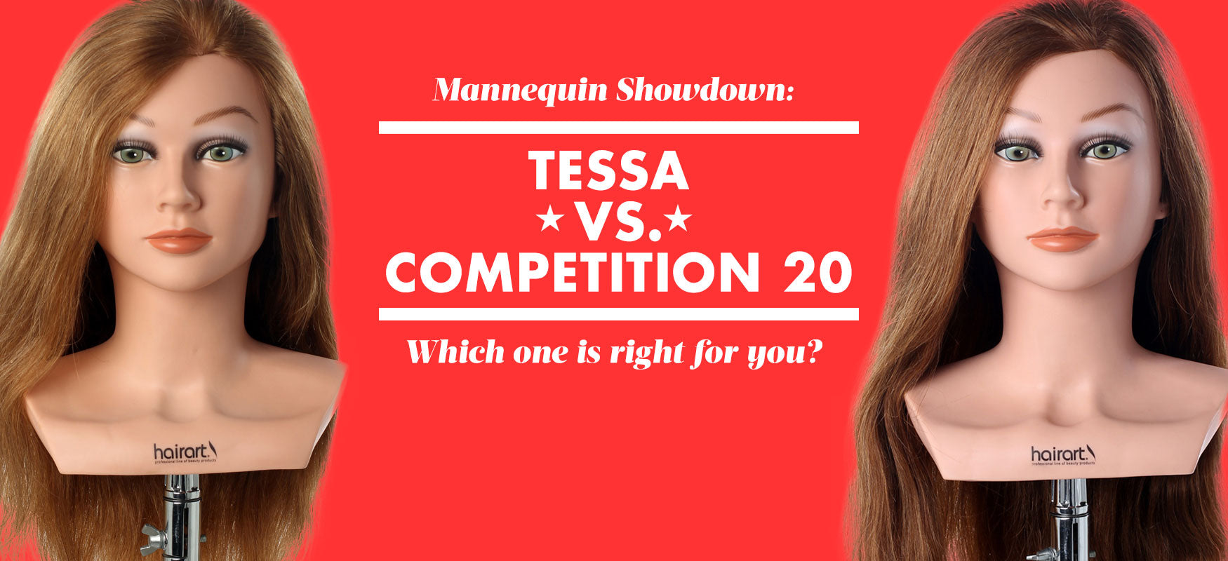 Tessa vs. Competition 20 Human Hair Mannequin