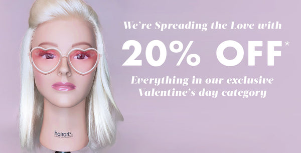 Valentine's day sale 2019: 20% off our most love products to you with love.