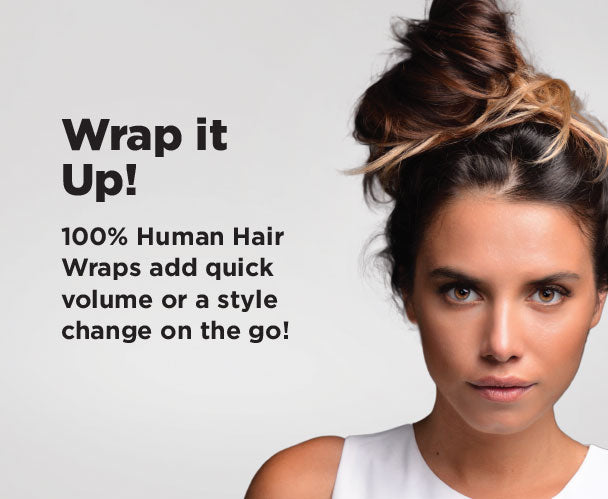 Human Hair Wraps for Amazing Up-Dos