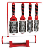 Boar & Nylon Bristle W/ Magnetic Therapy Handle 4 Brush Set