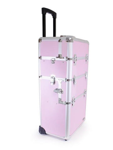 2-Piece Aluminum Beauty Case - Pink