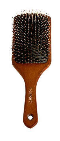 100% Beech Wood Handle Square Paddle Brush