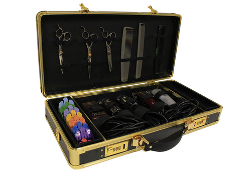 Popular Nobody by John Mosley Barber Case - Black with Gold Trim