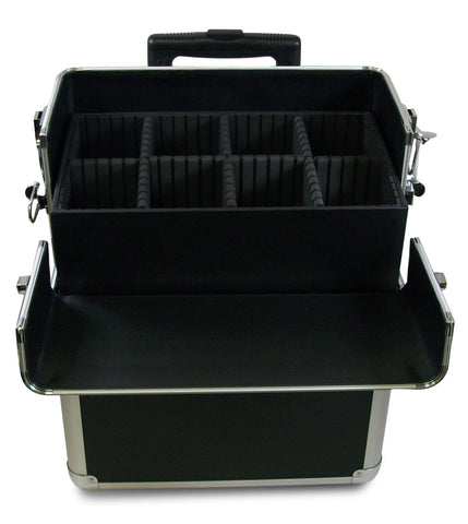 2-Piece Aluminum Beauty Case - Black