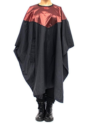 Topping Cape For Cutting & Styling - Black/Burgundy