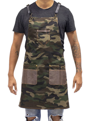 Barber Apron Camo - Dark Wash Denim [Unisex]