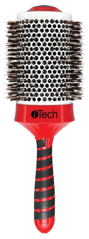 Boar & Nylon Bristle W/ Magnetic Therapy Handle