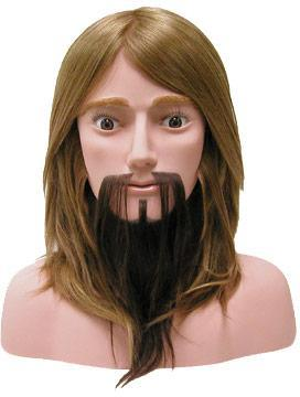Male Competition-10 w/Beard [100% Human Hair Mannequin]