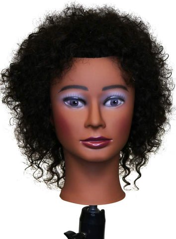 Aliyah [Textured Hair Mannequin] 100% Human Hair Practice Doll head