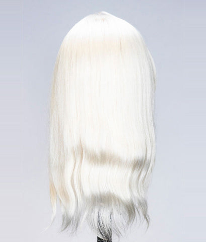 Bianca Platinum Blonde Human Hair Mannequin for color deposit - 12 inch hair [IN STOCK JULY 2019]