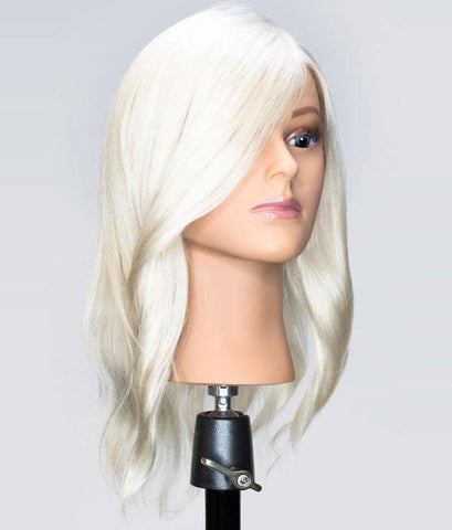 Bianca Platinum Blonde Human Hair Mannequin for color deposit - 15 inch hair