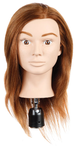 Molly Children's Head Doll [100% Human Hair Mannequin]