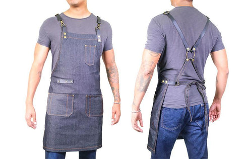 Barber Apron - Dark Wash Denim