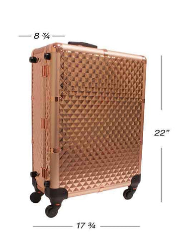 Make-Up Lighted Vanity Case - Rose Gold