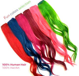 Clip-in 100% Human Hair Extensions: 2 pc. 16""