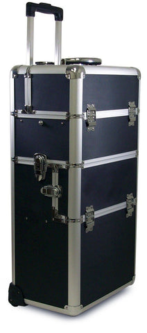 2-Piece Aluminum Beauty Case - Silver