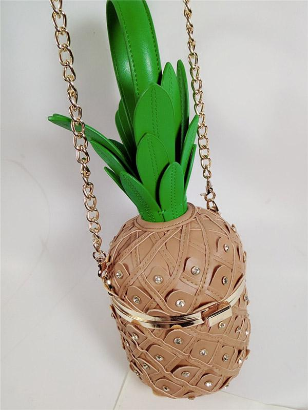 Women's Creative trend pineapple chain bag