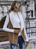Large Lapel Jacket Suede warm autumn Vest