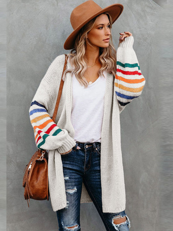 Loose Long-Sleeved Middle length Coat Cardigan sweater