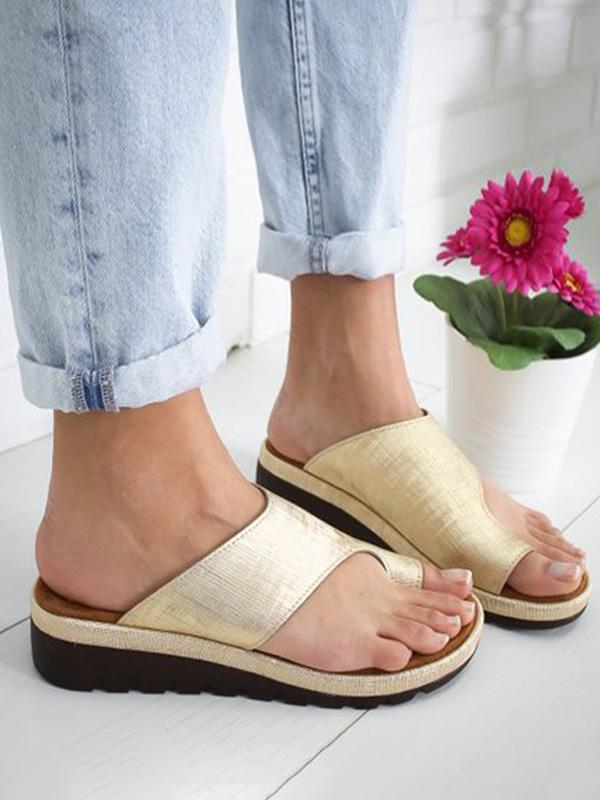 Large size sandals women spring and summer new solid color shoes