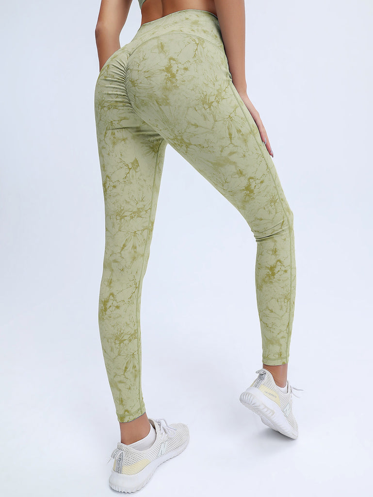 Women Athletic Wear-Tie-Dye Sports Trousers Dance Workout Pants Sexy Gym Clothes Yoga Outfits Feminine Sportswear