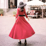 Red Shirt Dress cottagecore aesthetic dress