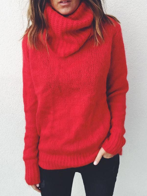 Big Long Sleeve Turtle Neck Sweater
