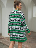Cardigan Sweater with reindeer
