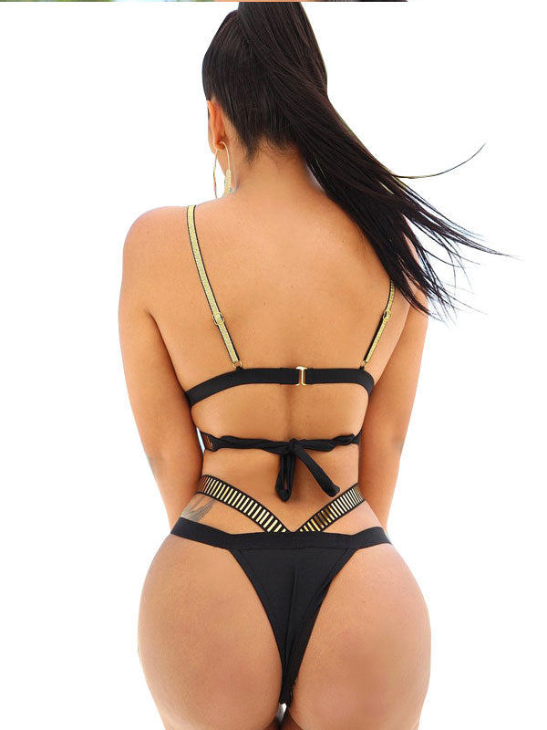 womens sexy solid halter padded push up bikini panties for women sexy swimsuit