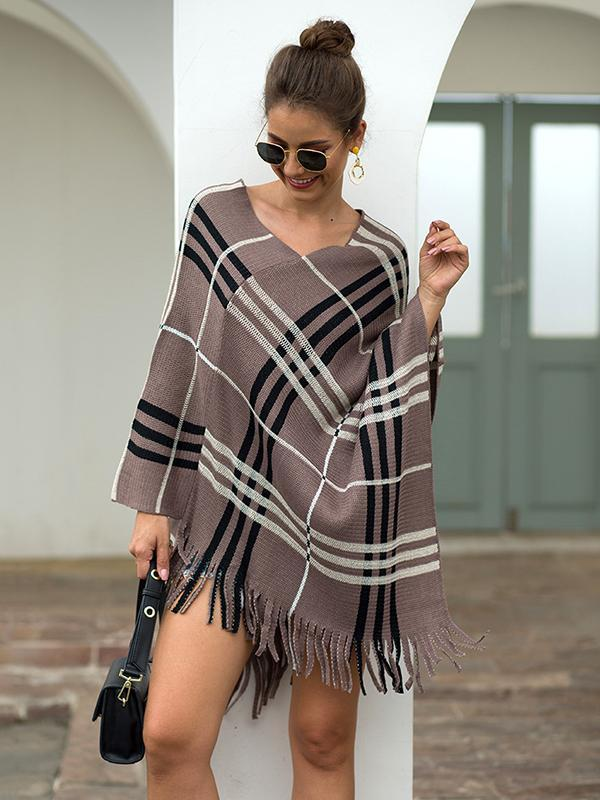 color block pullover cape for women
