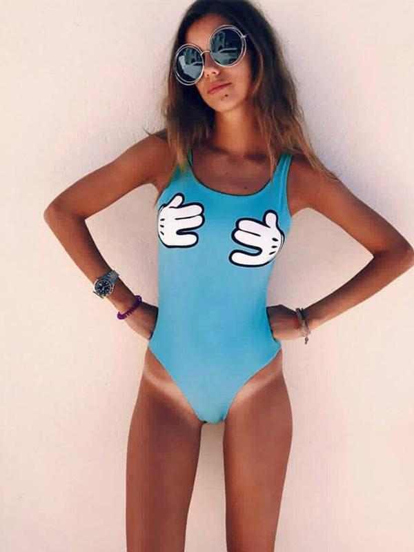 Ladies Fashion One Piece Swimsuit