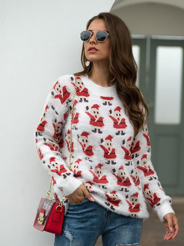 long sleeve christmas sweater Pullover