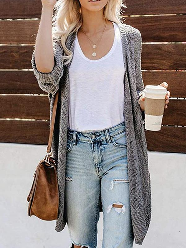 Long Sleeve long cardigan sweater