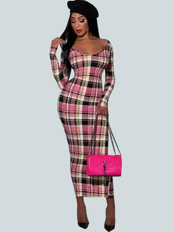 New Fashion Plaid Dress For Women