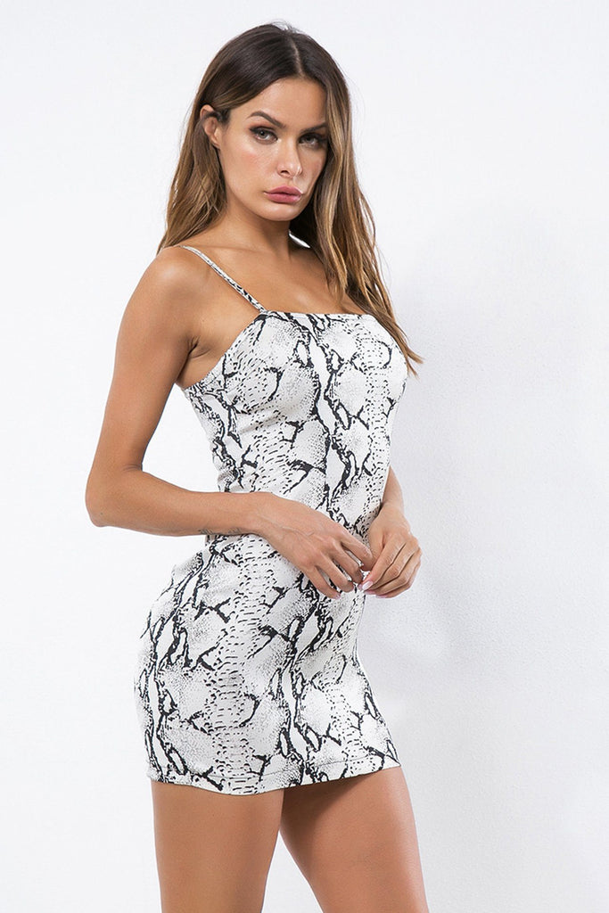 New Fashion Snake Tube Top Halter Sling Bag Hip Dress
