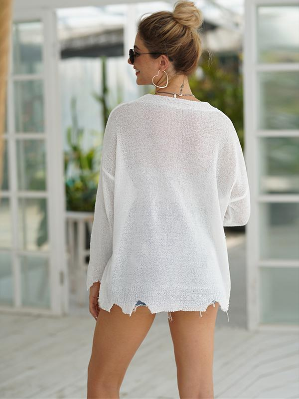 New Round Neck Knit Loose Pullover Sweater